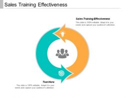 Sales Training Effectiveness Ppt Powerpoint Presentation Icon Files Cpb