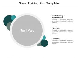 Sales Training Plan Template Ppt Powerpoint Presentation Model Example Topics Cpb