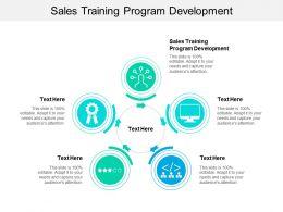 Sales Training Program Development Ppt Powerpoint Presentation File Clipart Images Cpb