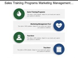 Sales Training Programs Marketing Management Tool Budgeting Process
