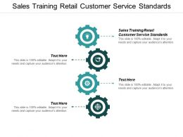 Sales Training Retail Customer Service Standards Ppt Powerpoint Presentation Model Templates Cpb