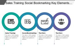 Sales Training Social Bookmarking Key Elements Digital Marketing