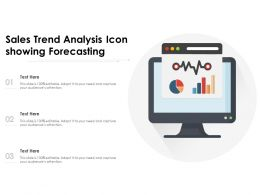 Sales Trend Analysis Icon Showing Forecasting