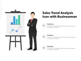 Sales Trend Analysis Icon With Businessman