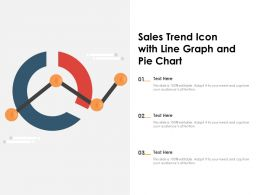 Sales Trend Icon With Line Graph And Pie Chart
