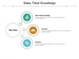 Sales Tribal Knowledge Ppt Powerpoint Presentation Infographic Template Examples Cpb