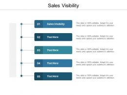 Sales Visibility Ppt Powerpoint Presentation Infographic Template Shapes Cpb