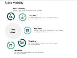 Sales Visibility Ppt Powerpoint Presentation Inspiration Sample Cpb