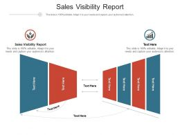 Sales Visibility Report Ppt Powerpoint Presentation Gallery Layout Ideas Cpb