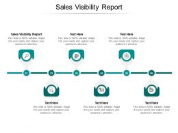 Sales Visibility Report Ppt Powerpoint Presentation Pictures Graphics Cpb