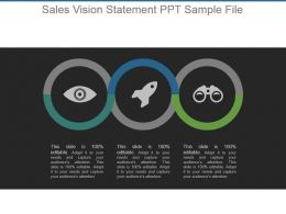 Sales Vision Statement Ppt Sample File