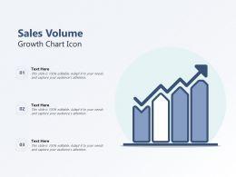 Sales Volume Growth Chart Icon