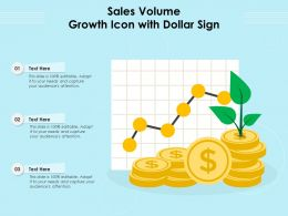 Sales Volume Growth Icon With Dollar Sign