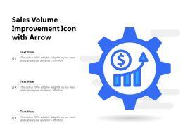Sales Volume Improvement Icon With Arrow