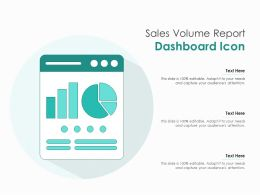 Sales Volume Report Dashboard Icon