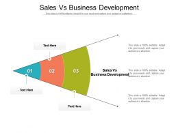 Sales Vs Business Development Ppt Powerpoint Presentation Outline Graphics Cpb