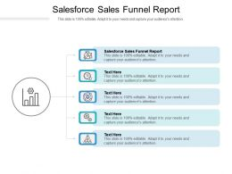 Salesforce Sales Funnel Report Ppt Powerpoint Presentation Icon Graphics Template Cpb