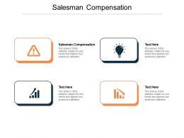 Salesman Compensation Ppt Powerpoint Presentation Summary Design Ideas Cpb