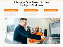 Salesman Give Demo Of Latest Laptop To Customer