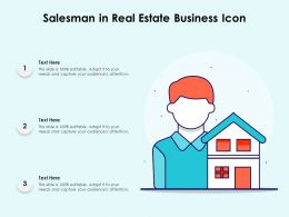 Salesman In Real Estate Business Icon