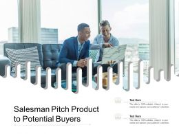 Salesman Pitch Product To Potential Buyers