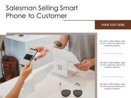 Salesman Selling Smart Phone To Customer