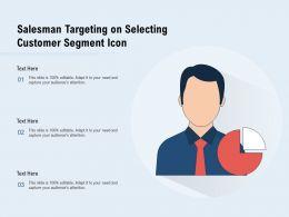 Salesman Targeting On Selecting Customer Segment Icon