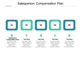 Salesperson Compensation Plan Ppt Powerpoint Presentation Summary Icon Cpb