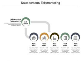 Salespersons Telemarketing Ppt Powerpoint Presentation Ideas Guide Cpb