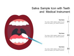 Saliva Sample Icon With Teeth And Medical Instrument
