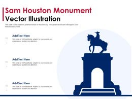 Sam Houston Monument Vector Illustration Powerpoint Template