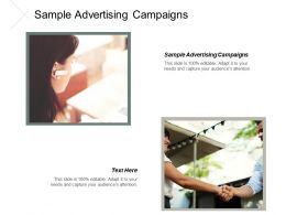 Sample Advertising Campaigns Ppt Powerpoint Presentation Portfolio Template Cpb
