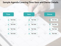 Sample Agenda Covering Time Item And Owner Details