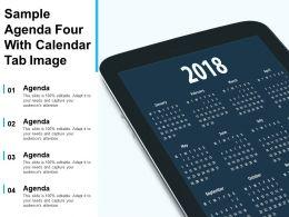 Sample Agenda Four With Calendar Tab Image