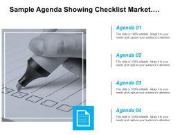 Sample Agenda Showing Checklist Market Image