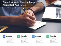 Sample Agenda Showing Image Write Desk And Notes