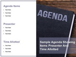 Sample Agenda Showing Items Presenter And Time Allotted