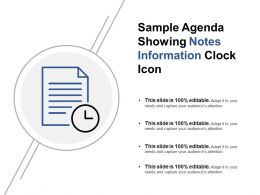 Sample Agenda Showing Notes Information Clock Icon