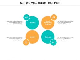 Sample Automation Test Plan Ppt Powerpoint Presentation Infographics Show Cpb