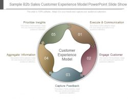 Sample B2b Sales Customer Experience Model Powerpoint Slide Show