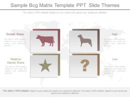 Sample Bcg Matrix Template Ppt Slide Themes