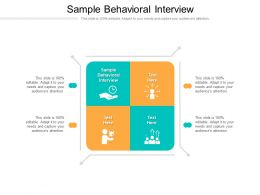 Sample Behavioral Interview Ppt Powerpoint Presentation Infographic Template Infographic Template Cpb