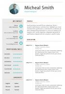 Sample Bio Data CV Example Template For Job