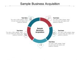 Sample Business Acquisition Ppt Powerpoint Presentation Layouts Master Slide Cpb