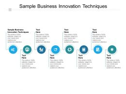 Sample Business Innovation Techniques Ppt Powerpoint Presentation Format Cpb