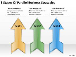 Sample Business Model Diagram 3 Stages Of Parallel Strategies Powerpoint Slides