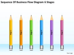 Sample Business Model Diagram Flow 6 Stages Powerpoint Templates Ppt Backgrounds For Slides