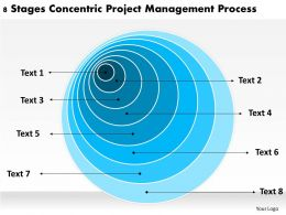 Sample Business Organizational Chart Stages Concentric Project Management Process Powerpoint Slides