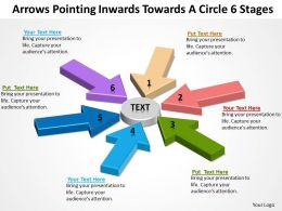Sample Business Powerpoint Presentation Inwards Towards Circle 6 Stages Slides