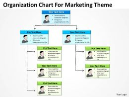 Sample Business Powerpoint Presentation Organization Chart For Marketing Theme Templates 0523